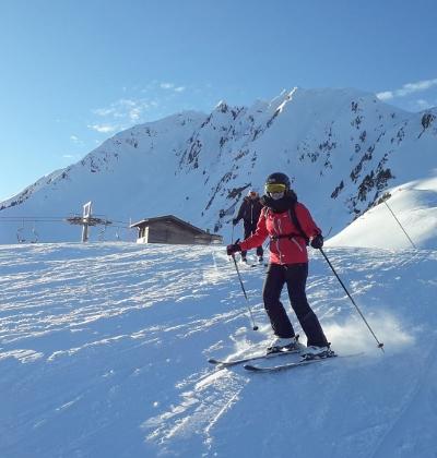 Photo de Clara Beguin au ski dans les Alpes bavaroises