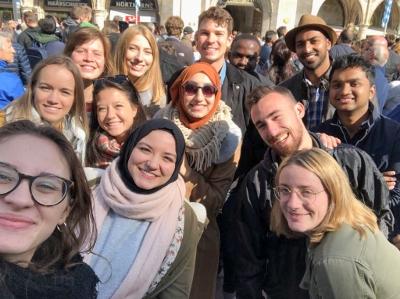 Clara Beguin et ses amis de l'Université de Rosenheim - Erasmus+ HERS 2018
