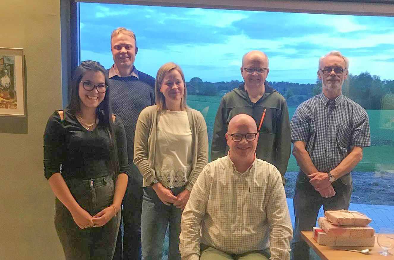 Photo d'Élisabeth et de l'équipe de l'entreprise Livensen, au Danemark