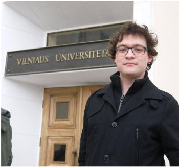 Édouard D'hoedt  en stage à Vilnius - 2015-16