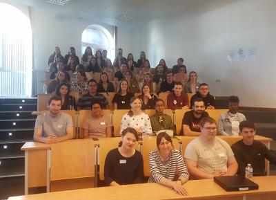Photo des étudiants de la Province de Luxembourg lors du séminaire Erasmus+ OUT du Pôle académique Liège - Luxembourg