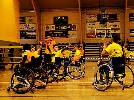 Photo d'une activité lors de la journée de l'inclusion inclusion sportive 2018 à la hers