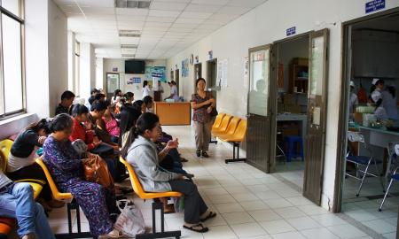 Photo de la salle d'attente de l'Hôpital de Ho Chi Minh Ville