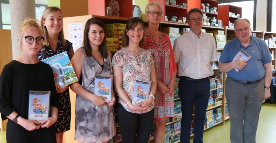 Photo de quelques membres du projet à la Ludothèque provinciale de Marche