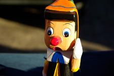 Photo d'une marionnette de Pinocchio