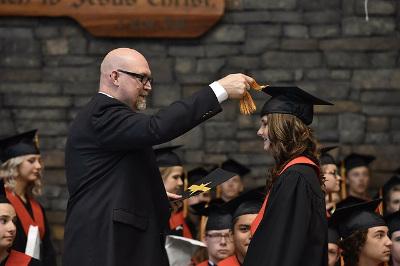 Photo d'une cérémonie de remise de diplôme