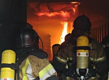 Photo du container Flash over en feu - Amay