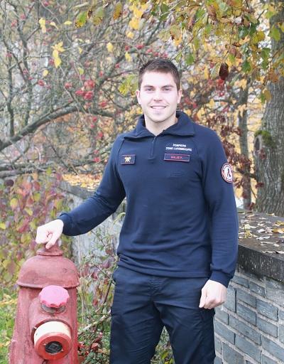 Photo de Florian Baljé, étudiant en Ingénieur industriel à la HERS et pompier volontaire à Paliseul