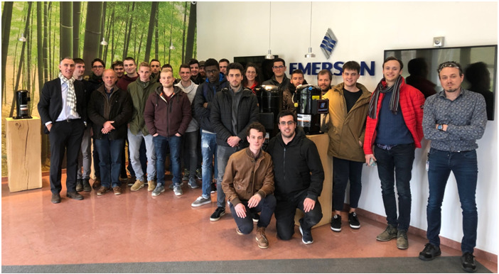 ingenieurs industriels hers visite emerson climate 2019