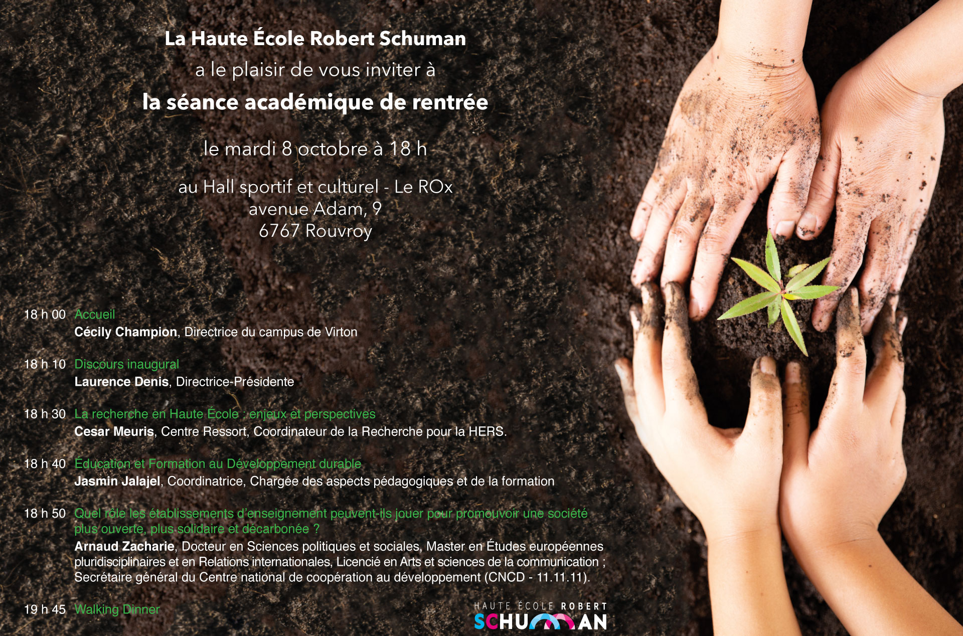 rentree academique 2019 20 invitation